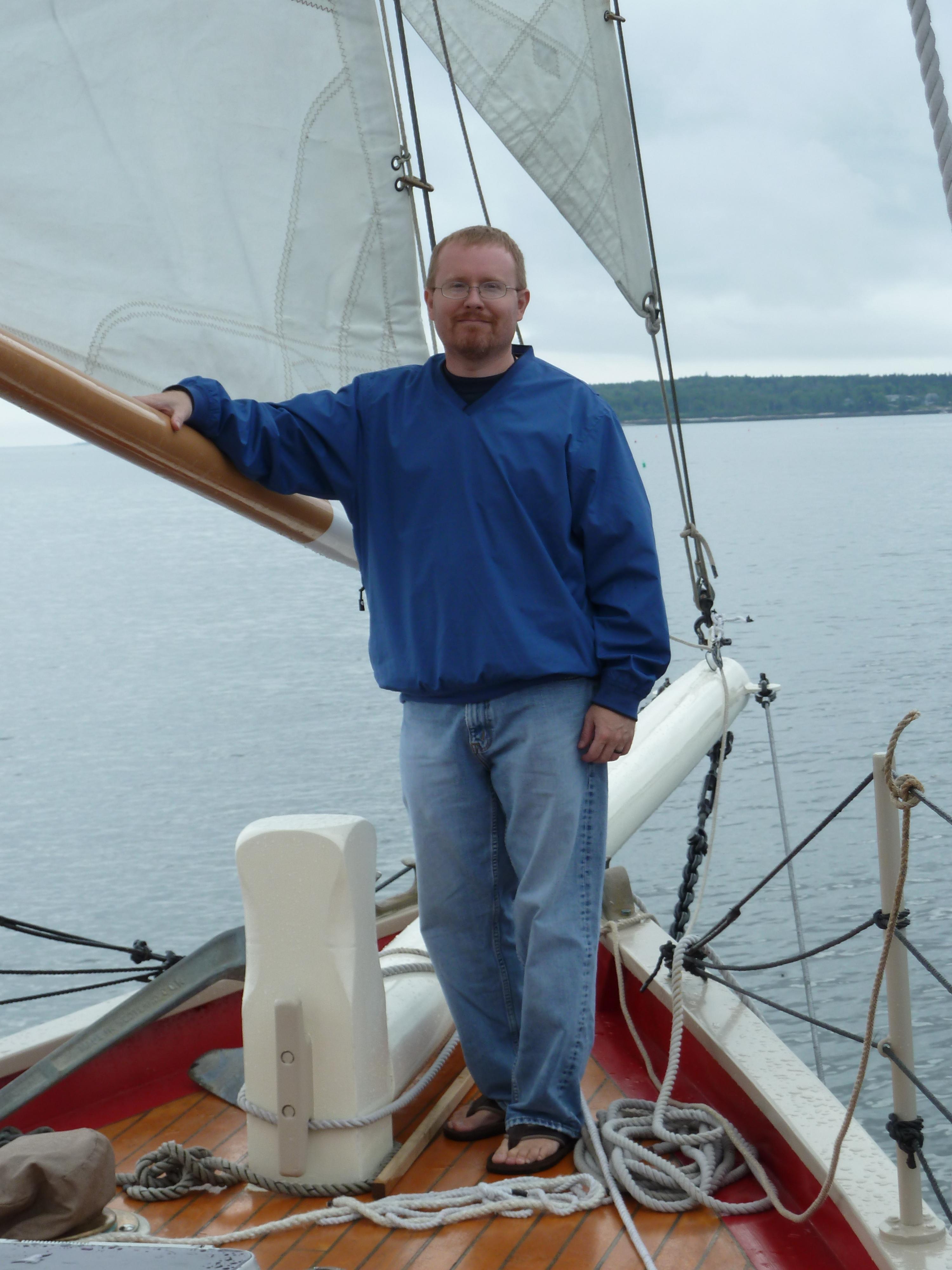 On Schooner Eastwind in Boothbay Harbor, Maine
